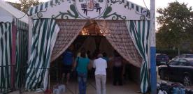 El montaje de la Feria de Camas casi terminado a un día del tradicional 'alumbrao'