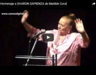 Videos.- Homenaje de Sharon Sapienza en el teatro central de sevilla