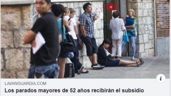 Los parados de 52 años recibirán subsidio.